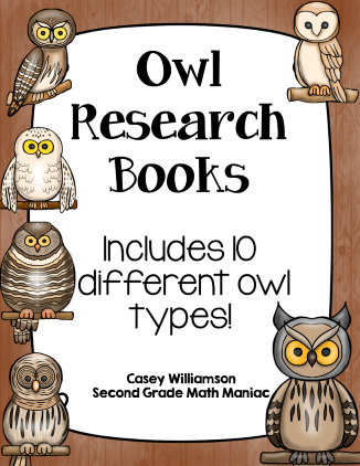 https://www.teacherspayteachers.com/Product/Owl-Research-Books-1515306