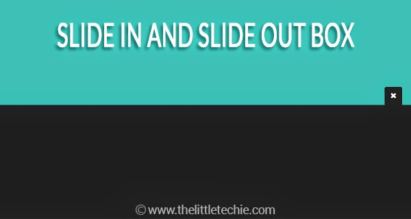 Slide in and slide out box