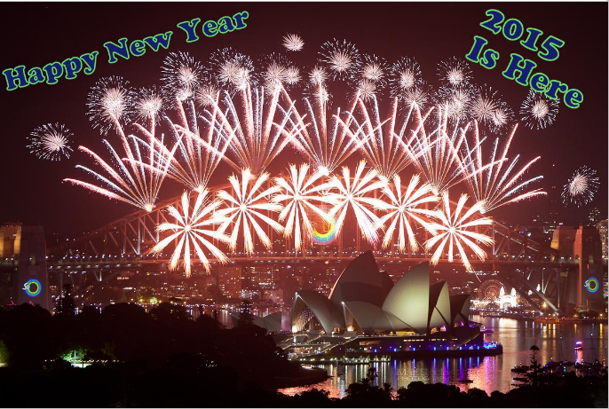Fireworks Of Happy New Year 2015 - Latest Free Download