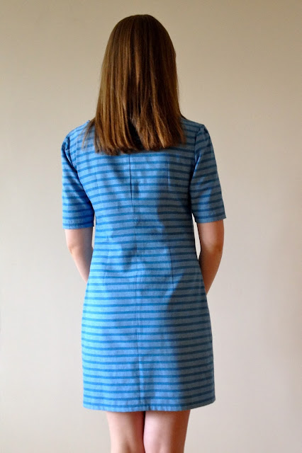 Diary of a Chain Stitcher: Theory Striped Linen Laurel Dress from Colette Patterns
