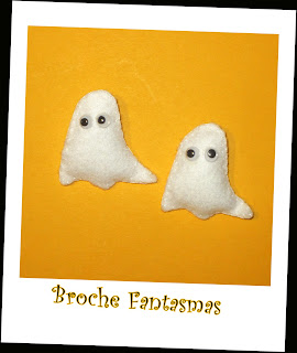Broche Fantasmas Fieltro Halloween - ChikiPol