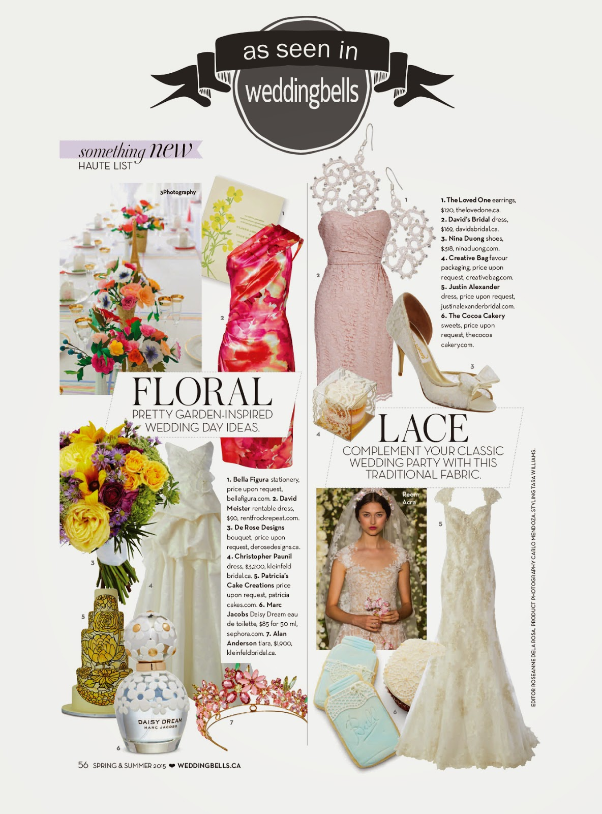 Creative Bag in the media - Weddingbells magazine