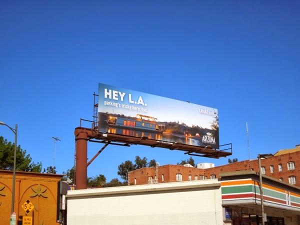 Hey LA Arizona boat billboard