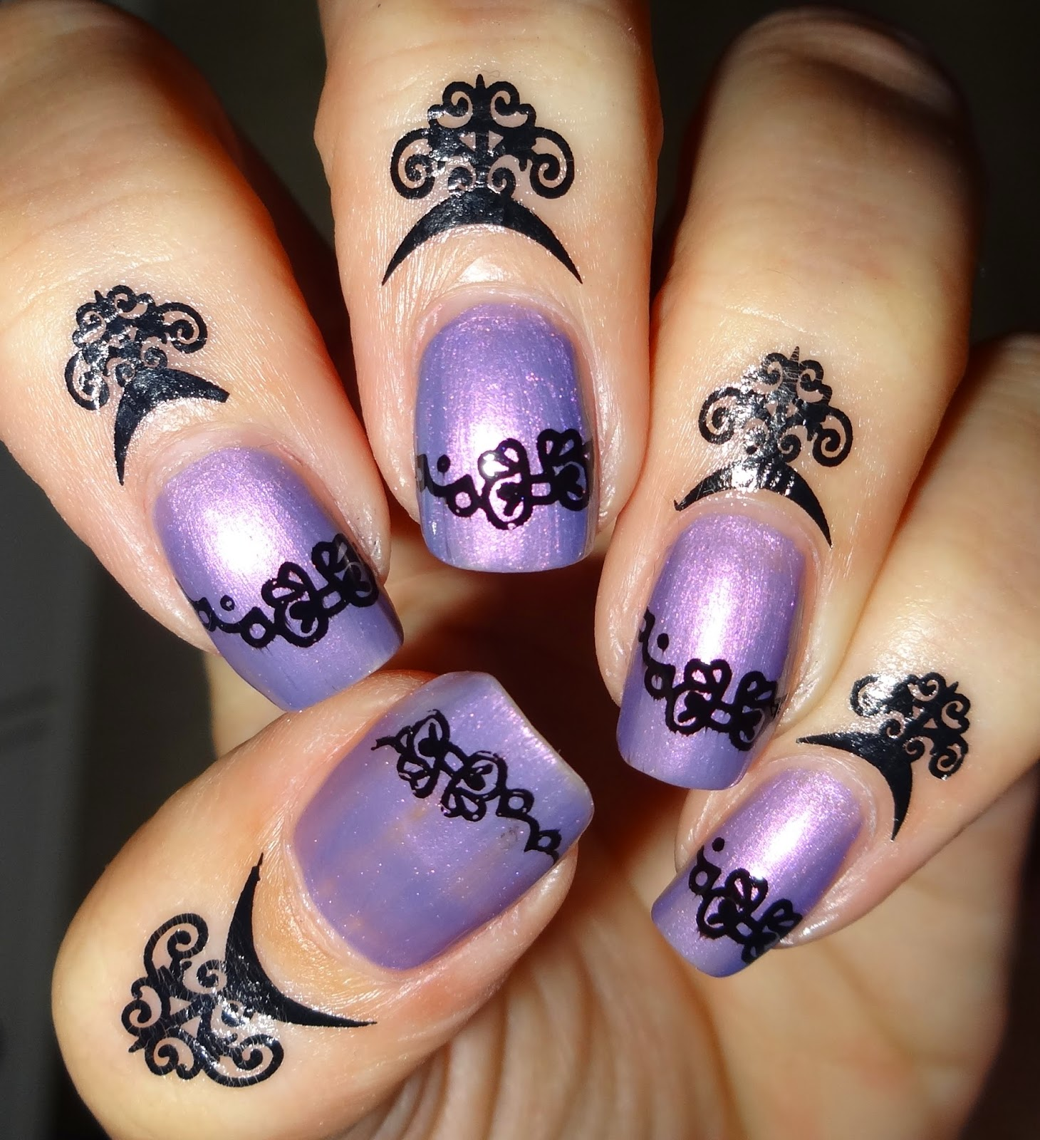 Wendy\'s Delights: Cuticle Tattoos #08 from Charlies Nail Art