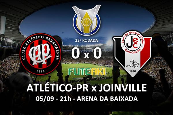 Veja o resumo da partida com os melhores momentos de Atlético-PR 0x0 Joinville pela 23ª rodada do Brasileirão 2015.