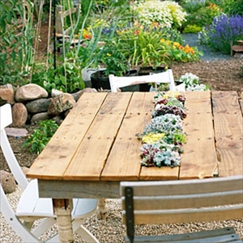 Pallet For Garden: Before: Shipping Pallet, After: Outdoor Table. Part 41