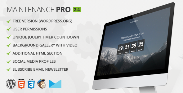 Maintenance PRO v2.6 – WordPress Plugin
