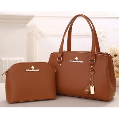 AAA WITH JESSICA MINKOFF LOGO (BROWN)