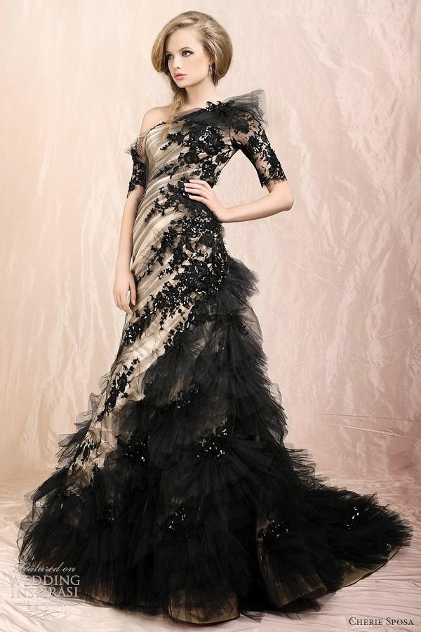 beautiful black wedding dresses