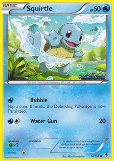 Squirtle Plasma Blast Pokemon Card