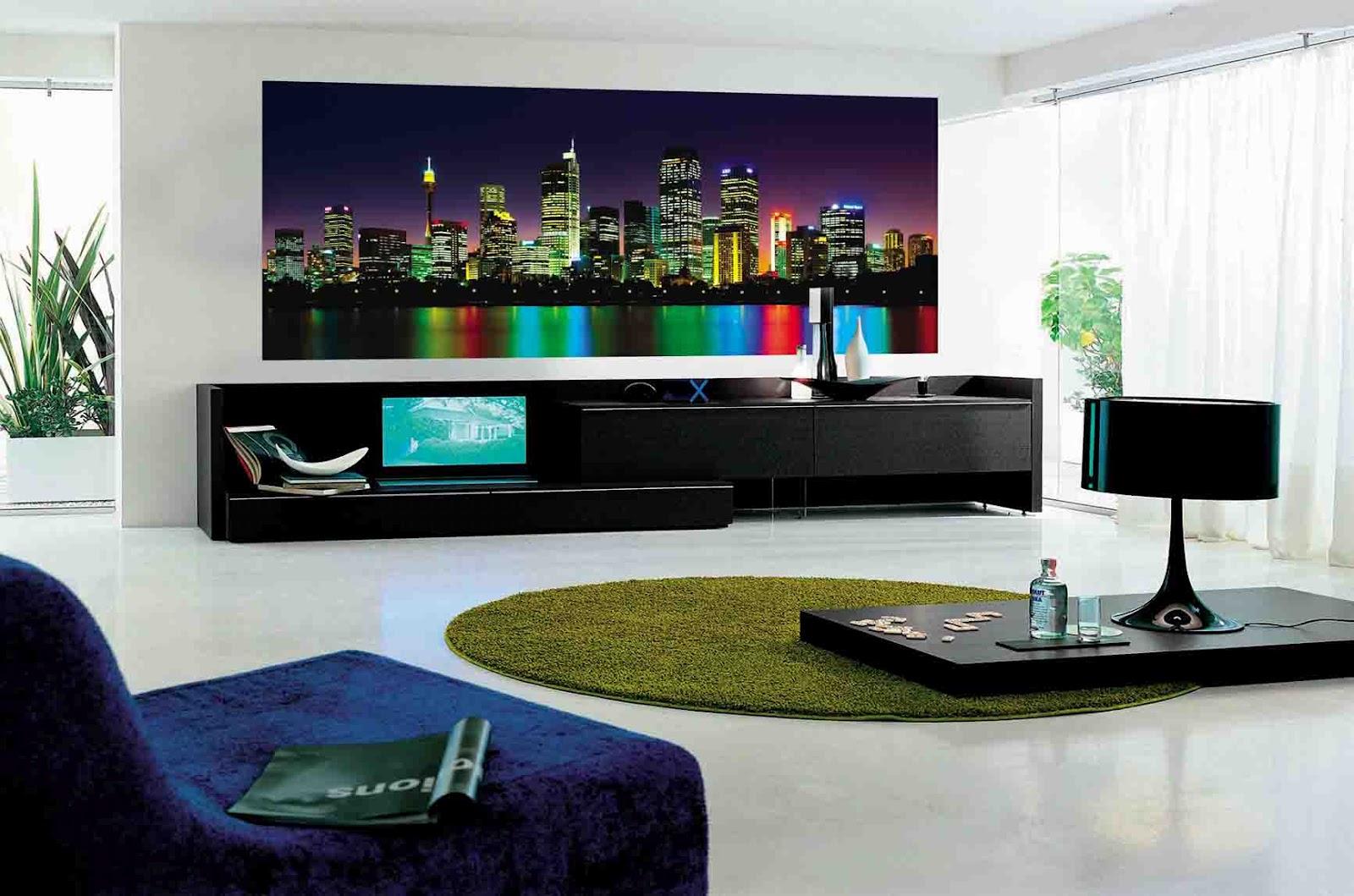 Decora o bonita para sala moderna ideias decora o for Casa stile minimalista