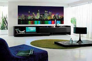 sala moderna bonita decorada