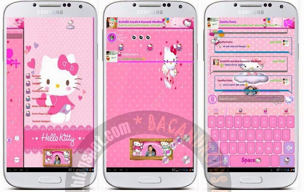 Download BBM Mod Background HelloKitty Apk