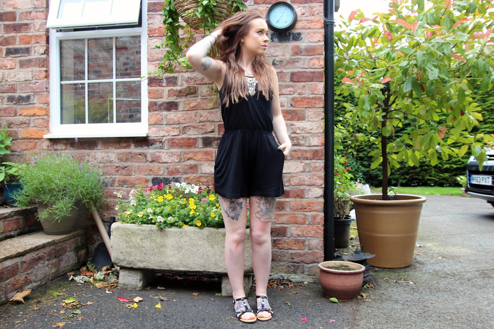 Black H&M Playsuit