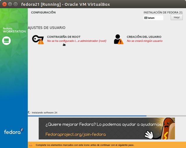 DriveMeca instalando Linux Fedora Workstation 21 paso a paso