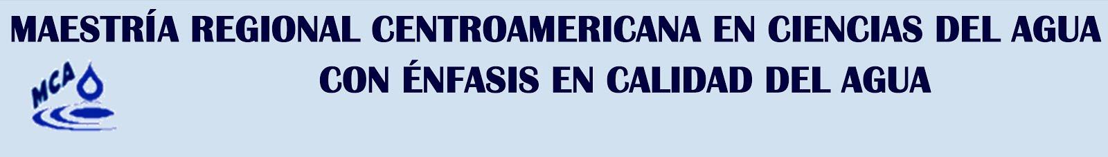 PROGRAMA DE MAESTRÍA EN CIENCIAS DEL AGUA CON ÉNFASIS EN CALIDAD DEL AGUA