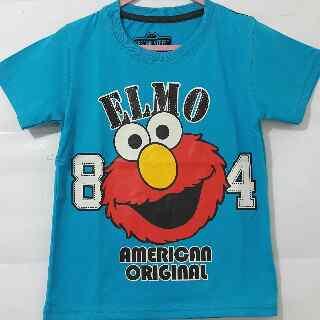 Baju Anak Karakter Elmo 84 Biru Size 1 - 6 Tahun