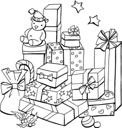 free christmas presents coloring pages for children disney coloring pages