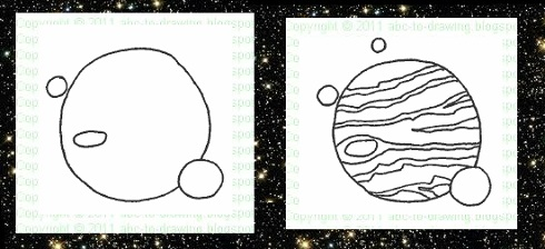 jupiter planet line drawings - photo #40