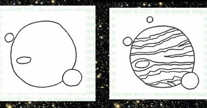 how to draw planets step by step