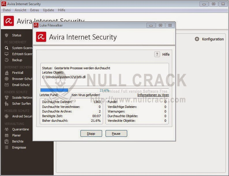 Avira Internet Security 2015 15.0.8.624 Serial Key Crack تحميل وتفعيل برنامج