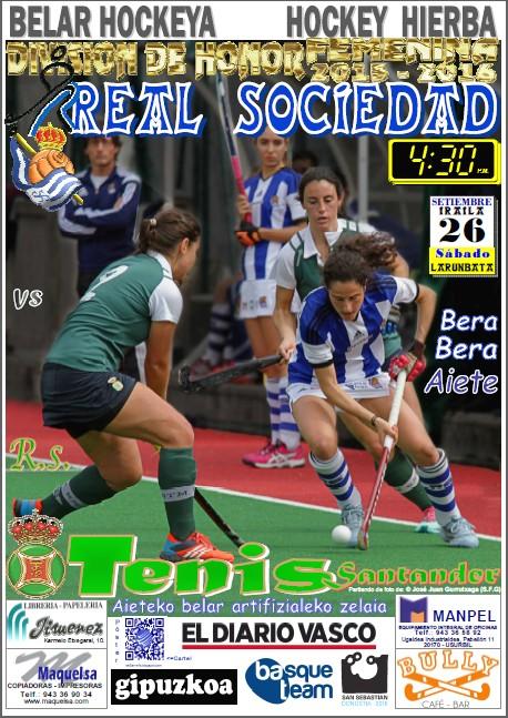 Cartel hockey 2015-09-26 Real Sociedad - R. S. Tenis Santander
