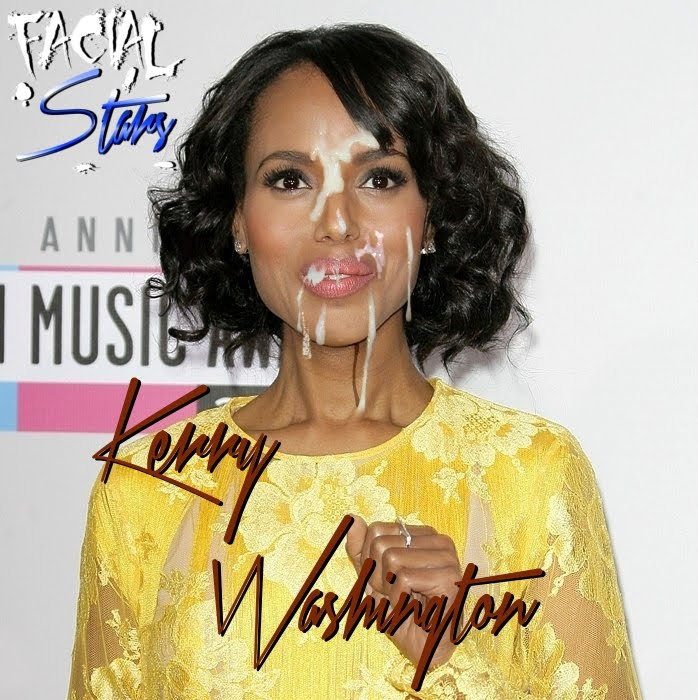 Kerry Washington dripping facial
