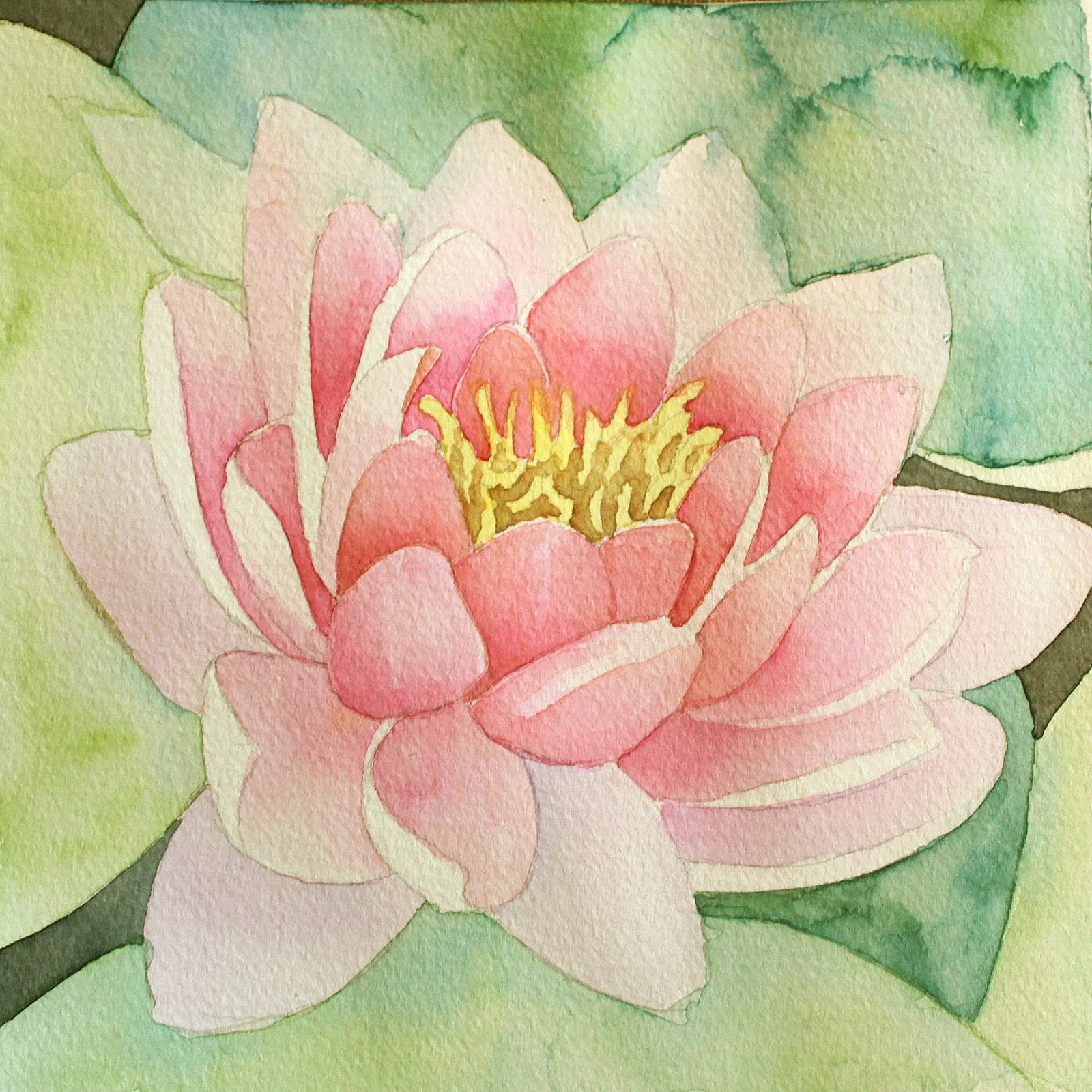 Life with mg the lotus flower within this helps create a more harmonious piece than using many different individual paint colors i glazed the areas of pond water using a mixture of sepia and izmirmasajfo
