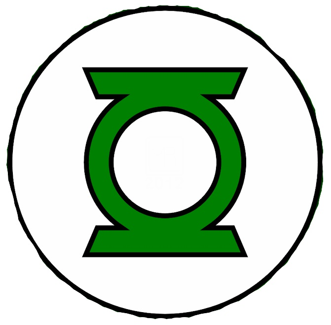 Green Lantern Logo Coloring Pages