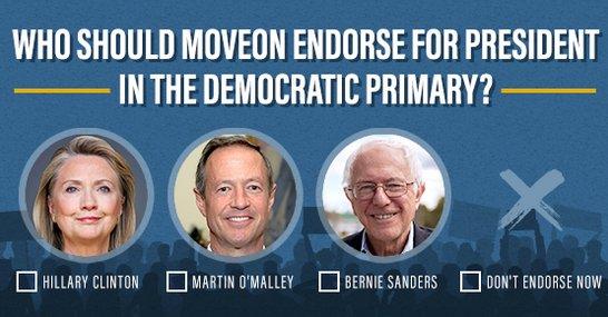 O'Malley, Clinton, Sanders