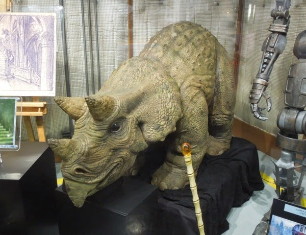 Jurassic Park animatronic triceratops and cane prop