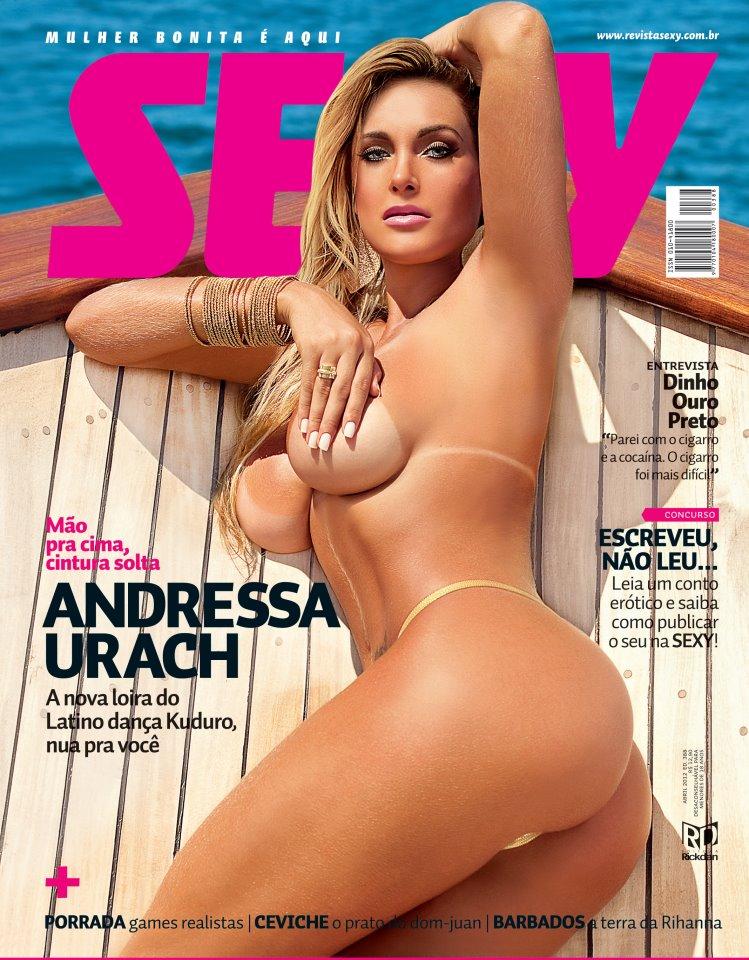 Andressa Urach, capa da edição de abril da revista Sexy