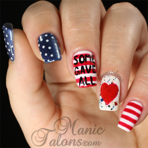 Manic Talons Nail Design: Memorial Day 2014: Some Gave All