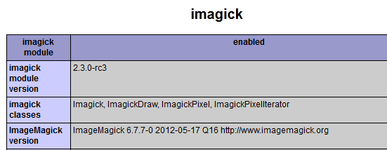 Install imagick extension for PHP 5.3.8 on Windows 7