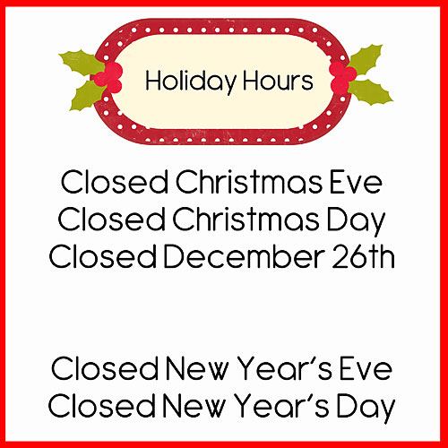 closed for christmas signs