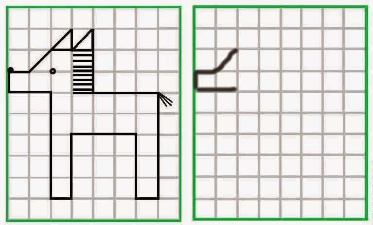 Figuras en cuadricula para primaria - Imagui