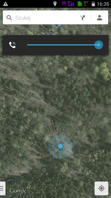 GPS pokazuje, że dotarłem na ulicę Kibiców