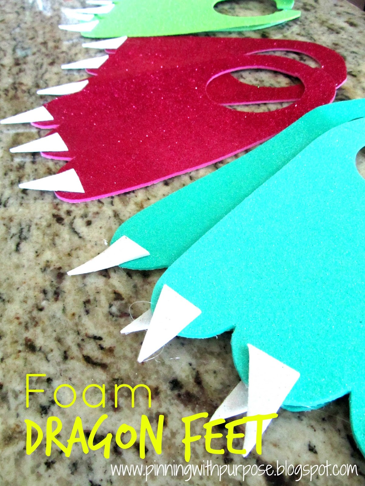 Foam Dragon Feet