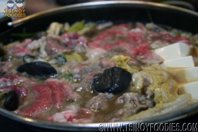 US beef sukiyaki
