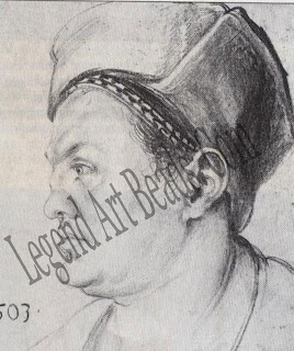 A life-long friend Dilrer sketched this charcoal portrait of Willibald Pirckheimer, his best friend since childhood, in 1503. The son of wealthy parents Pirckheimer was a humanist and poet who introduced Direr to the Greek and Latin classics.
