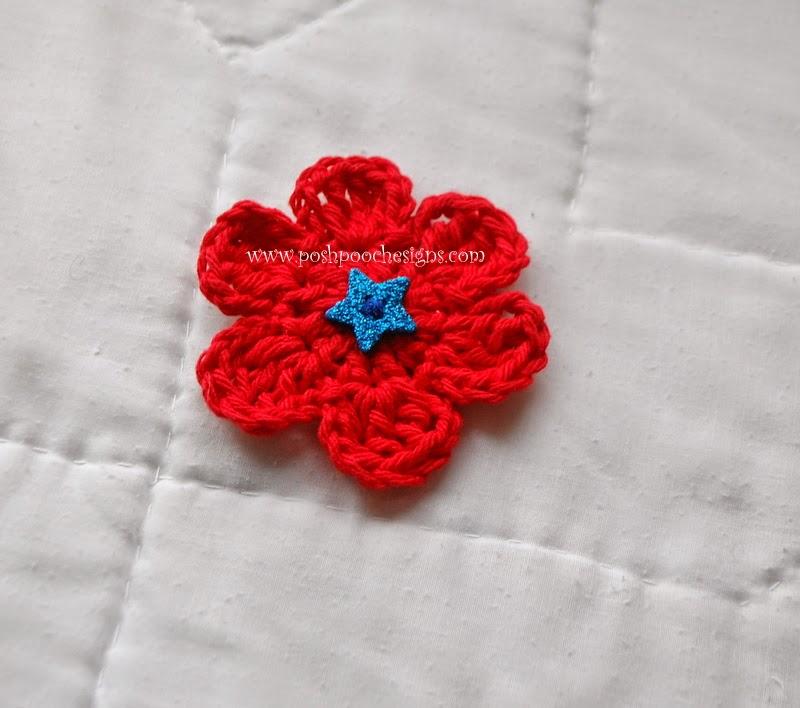 Crochet Flower Shirt Pattern : Posh Pooch Designs Dog Clothes: 6 Petal Flower Crochet Pattern