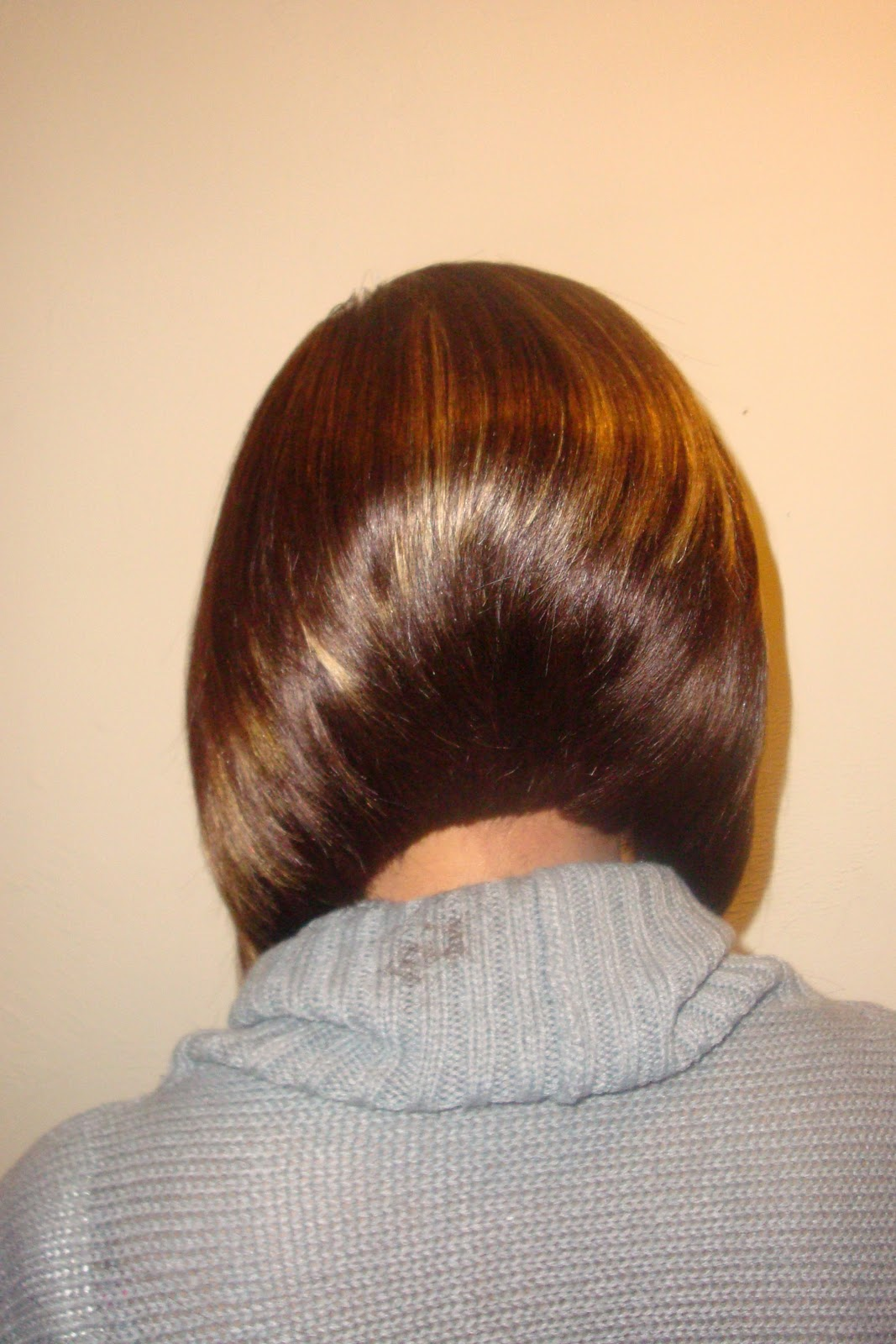 Short Bob with Invisible Part Sew in Weave
