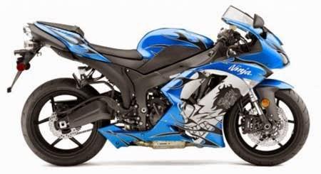 gambar stiker motor ninja
