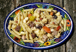 Muffaletta Pasta Salad- simplelivingeating.com