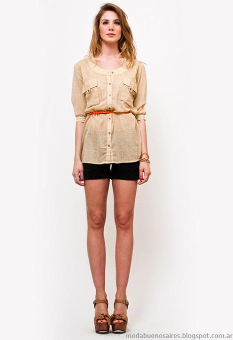 Moda verano 2013 Mariana Marquez camisas.