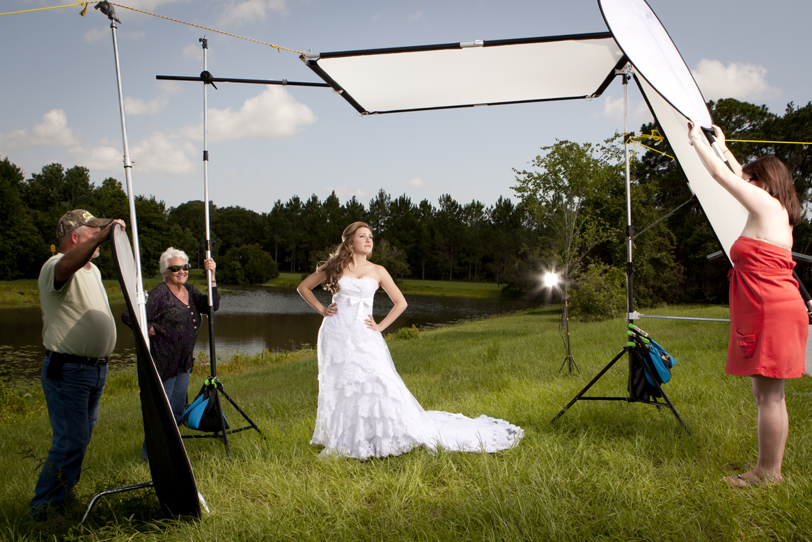 Outdoor lighting setup photography : The photographer s notebook stylish outdoor bridal