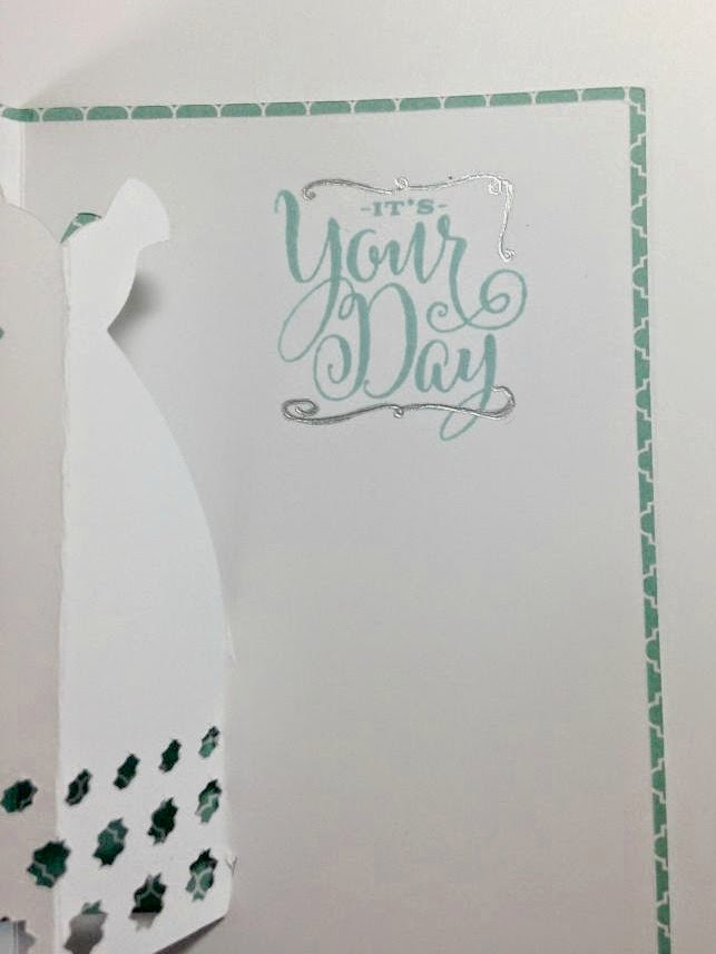 Close To My Heart Artfully Sent Cricut cartridge Wedding Pop Up card