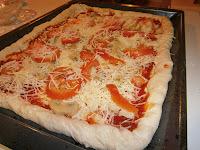 Masa de pizza casera. Pizza Funghi