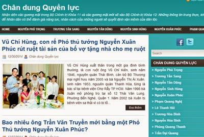 """DUNG NHAN HIỂM ÁC CỦA BLOG """"CHÂN DUNG QUYỀN LỰC"""""""