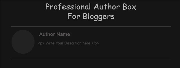 professional author box widget